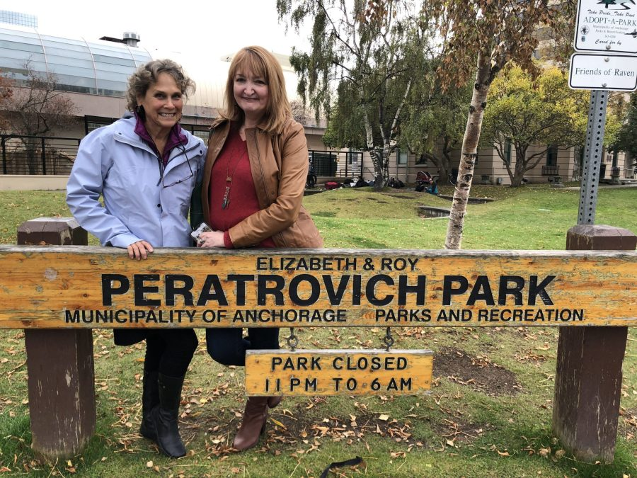 Peratrovich Park - Annie B with Roy Peratrovich Jr.'s daughter betsy Peratrovich