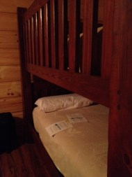 I had the top bunk, which felt weirdly like a giant crib.