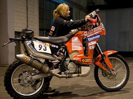 Annie's KTM at Dakar 2009