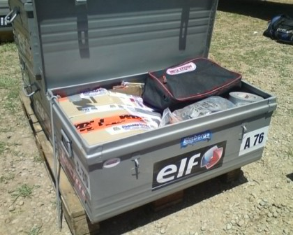 The box for all rally equipment
