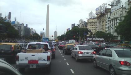Traffic jam Buenos Aires