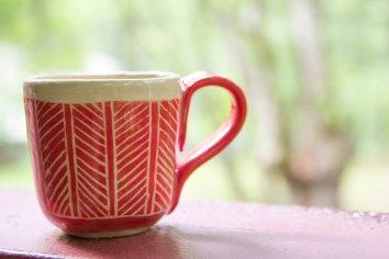 sgraffito mug