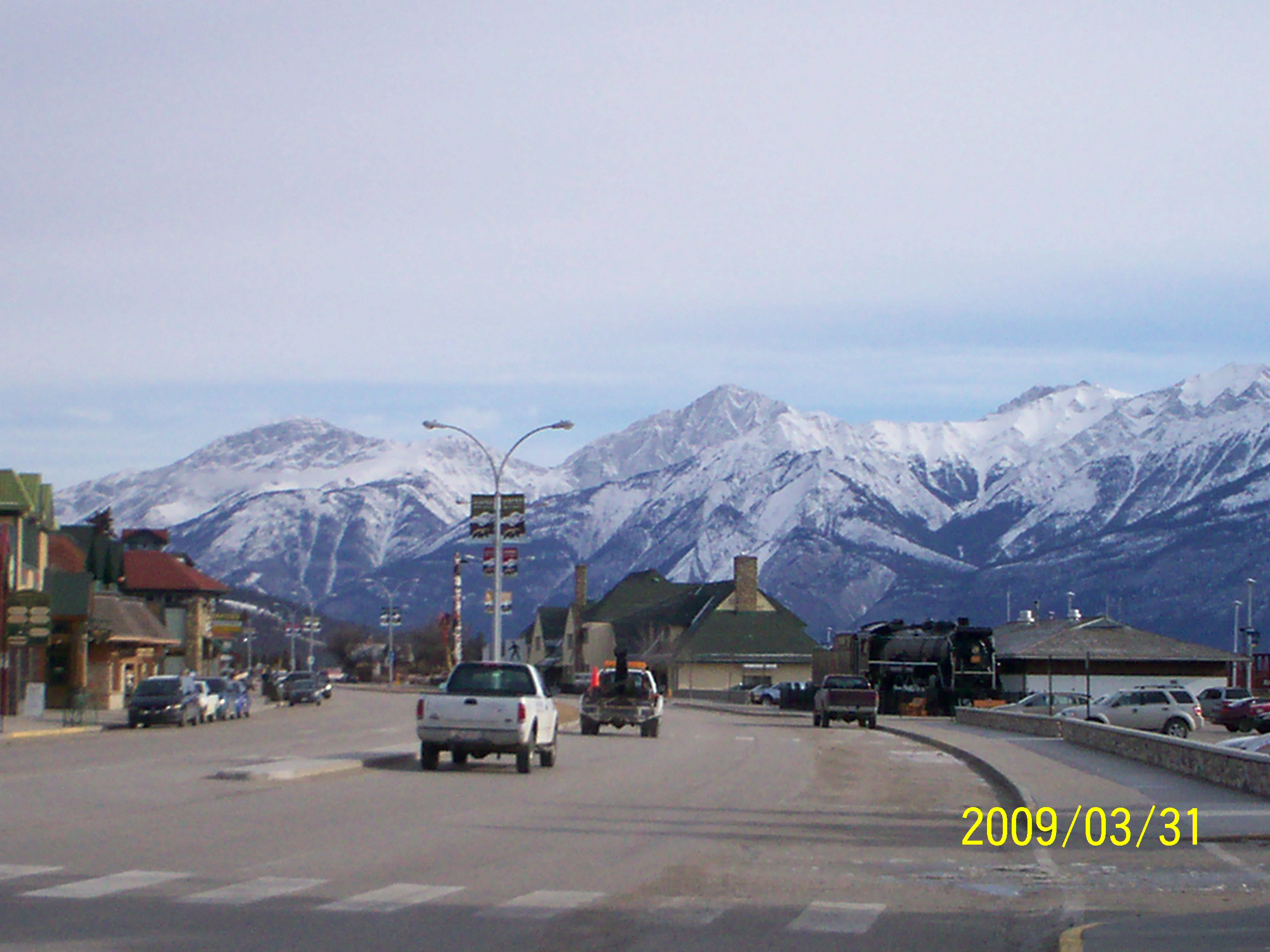 Main drag in Jasper, AB