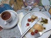 Baklava and Turkish coffee on Taksim Square.