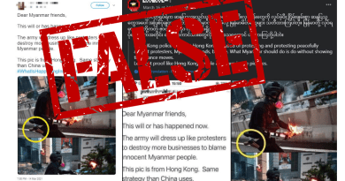 Analysis: An old photo from 2019 Hong Kong protests circulates in Myanmar with the same false claim