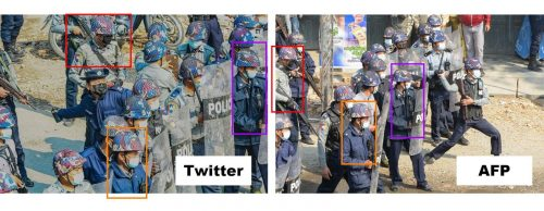 AFP image compared to tweet image