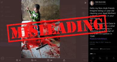 Investigation: 'Palestinian boy mopping the blood of his family' – a recycled image fanning the flames of tension in Gaza