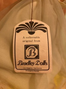 Bradley Dolls Tag for yellow doll