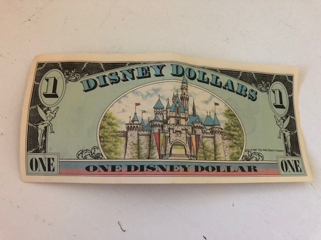 1987 Disney Dollar from the Magic Kingdom in Orlando, FL