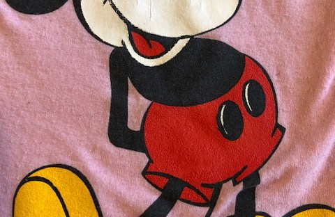 My 1988 Pink Mickey Mouse t-shirt