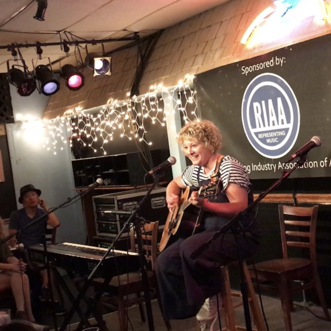 Playing Carry On at the Bluebird Cafe