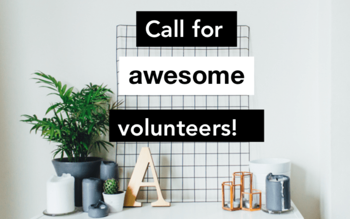 call for volunteer poster