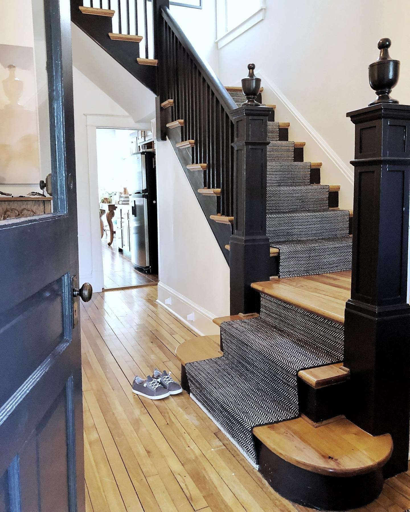 How To Choose A Stair Runner Rug Annie Selke | Thin Carpet For Stairs | Area Rug | Grey | Stair Runners | Flooring | Hallway