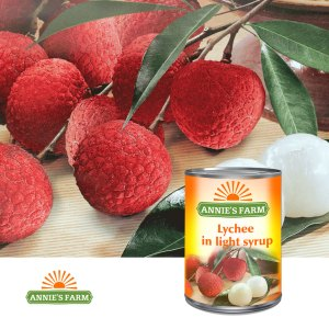 Lychee in light syrup - Annie's Farm