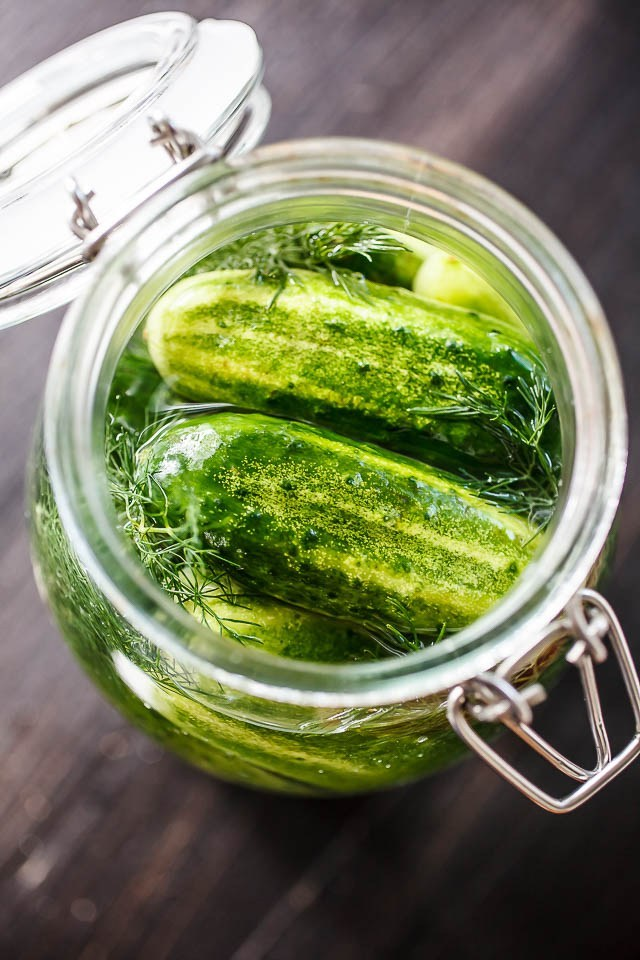 Pickled Cucumber in glass jar - Annie's Farm