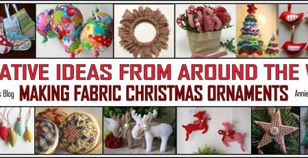 CREATIVE IDEAS MAKING FABRIC CHRISTMAS ORNAMENTS
