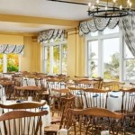 Commercial Drapery Curtain Installation Restaurant