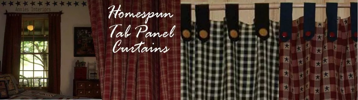 homespun country tab panel curtains