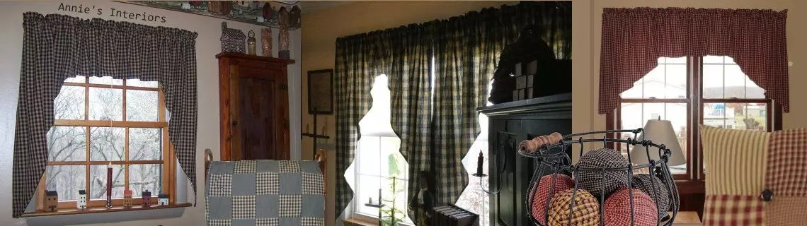 custom ordering primitive curtains, pillows, quilts