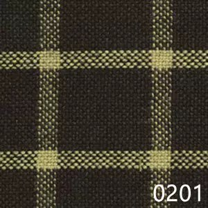 Navy Tea Dyed Reverse Windowpane Plaid Homespun Fabric