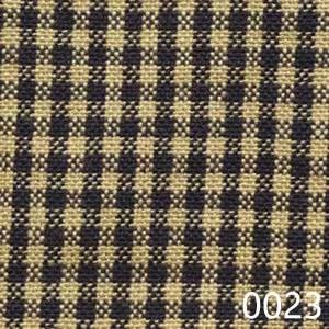 Navy Tea Dyed Mini Check Plaid Homespun Fabric
