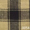 Black Tea Dyed Housecheck Plaid Homespun Fabric