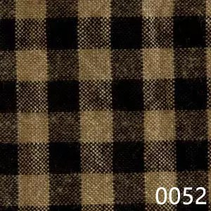 Black Tea Dyed Small Check Plaid Homespun Fabric