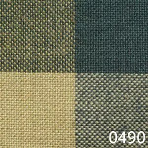 Green Tea Dyed Buffalo Check Plaid Homespun Fabric