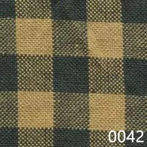 Green Tea Dyed Small Check Plaid Homespun Fabric