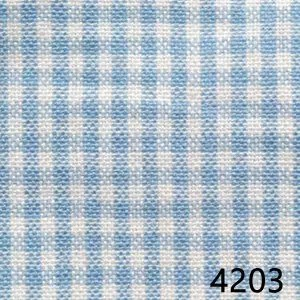 Light Blue White Mini Check Plaid Homespun Fabric