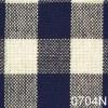 Navy Cream Small Check Plaid Homespun Fabric