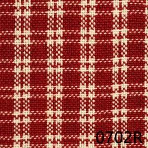 Red Cream Checkerpane Reverse Plaid Homespun Fabric