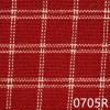 Red Cream Reverse Windowpane Plaid Homespun Fabric