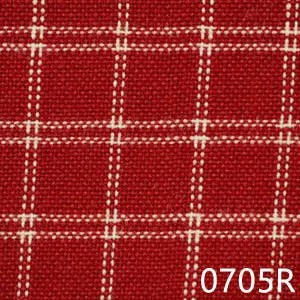 Red Cream Reverse Windowpane Plaid Homespun Fabric