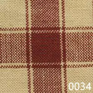 Red Tea Dyed Housecheck Plaid Homespun Fabric