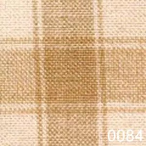 Wheat Cream Tea Dyed Housecheck Plaid Homespun Fabric