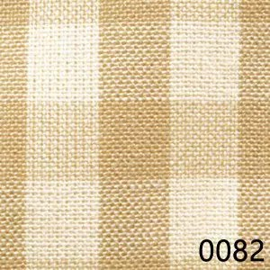 Wheat Cream Tea Dyed Small Check Plaid Homespun Fabric
