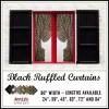 ruffled curtains black fabrics homespun