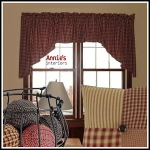 Country Prim Tailored Swag Valances 84x22