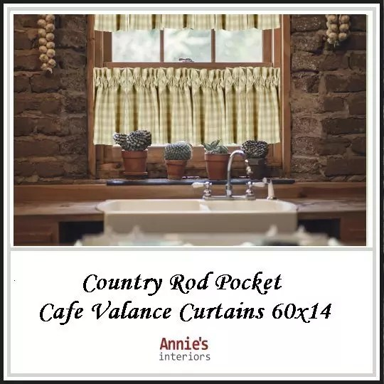 Country-Rod-Pocket-Cafe-Valance-Curtains-60×14