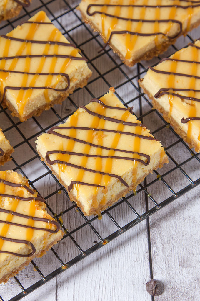 My Salted Caramel Cheesecake Bars marry velvety smooth cheesecake with the salty sweet gorgeousness that is Salted Caramel. With caramel in the cheesecake and on top, these are a caramel lovers dream!