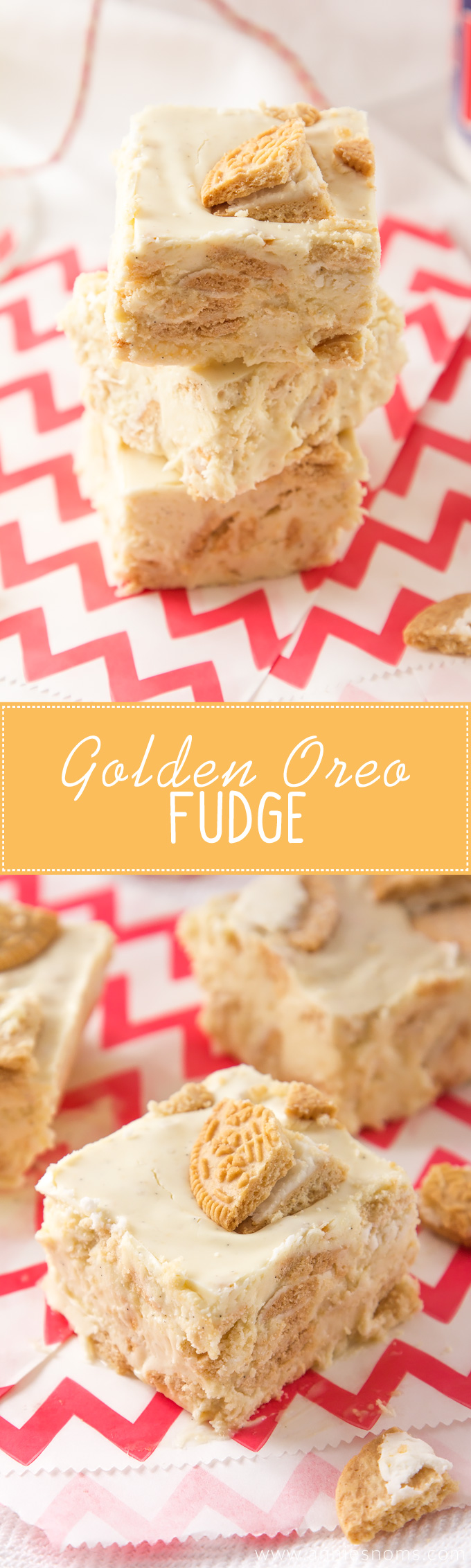 This melt in your mouth fudge is jam packed with Golden Oreo's, chocolate and marshmallow fluff. It's easy to make, hard to resist and totally divine!