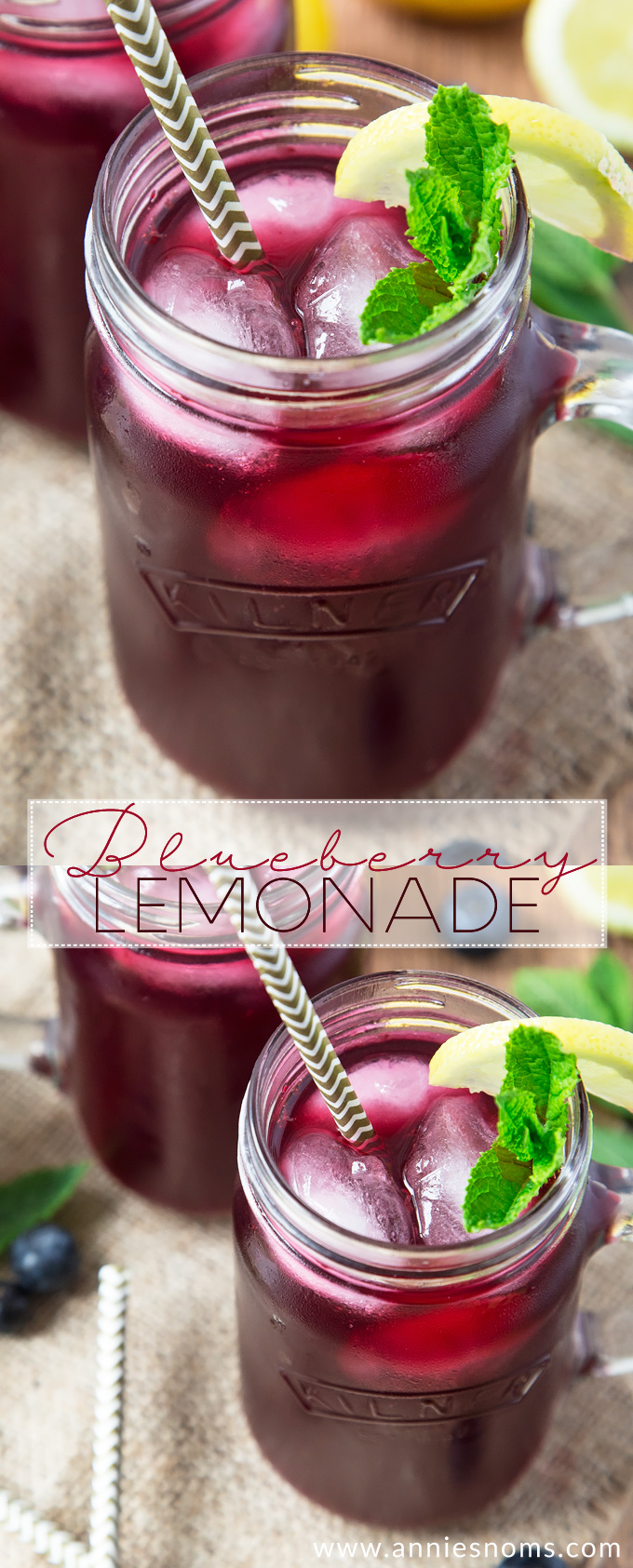 This light and refreshing Blueberry Lemonade is totally homemade, yet incredibly easy to make. Perfect to make ahead and chill, you will love this sweet beverage!
