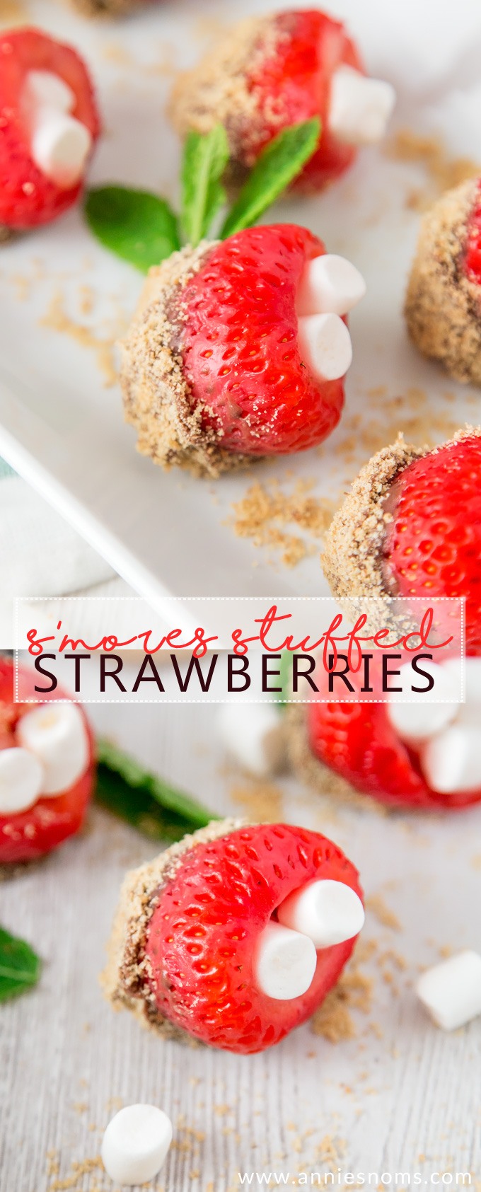 These S'mores Stuffed Strawberries might be bite sized, but they pack a real flavour punch! Sweet, chocolatey and a little crunchy; these treats are completely addictive!