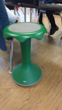 This is called a Hokki stool. It comes in different sizes. Many of our students would benefit from using one.