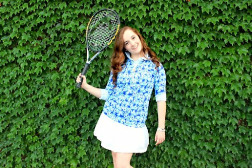 Lilly Pulitzer Tennis Outfit by Annie Fairfax