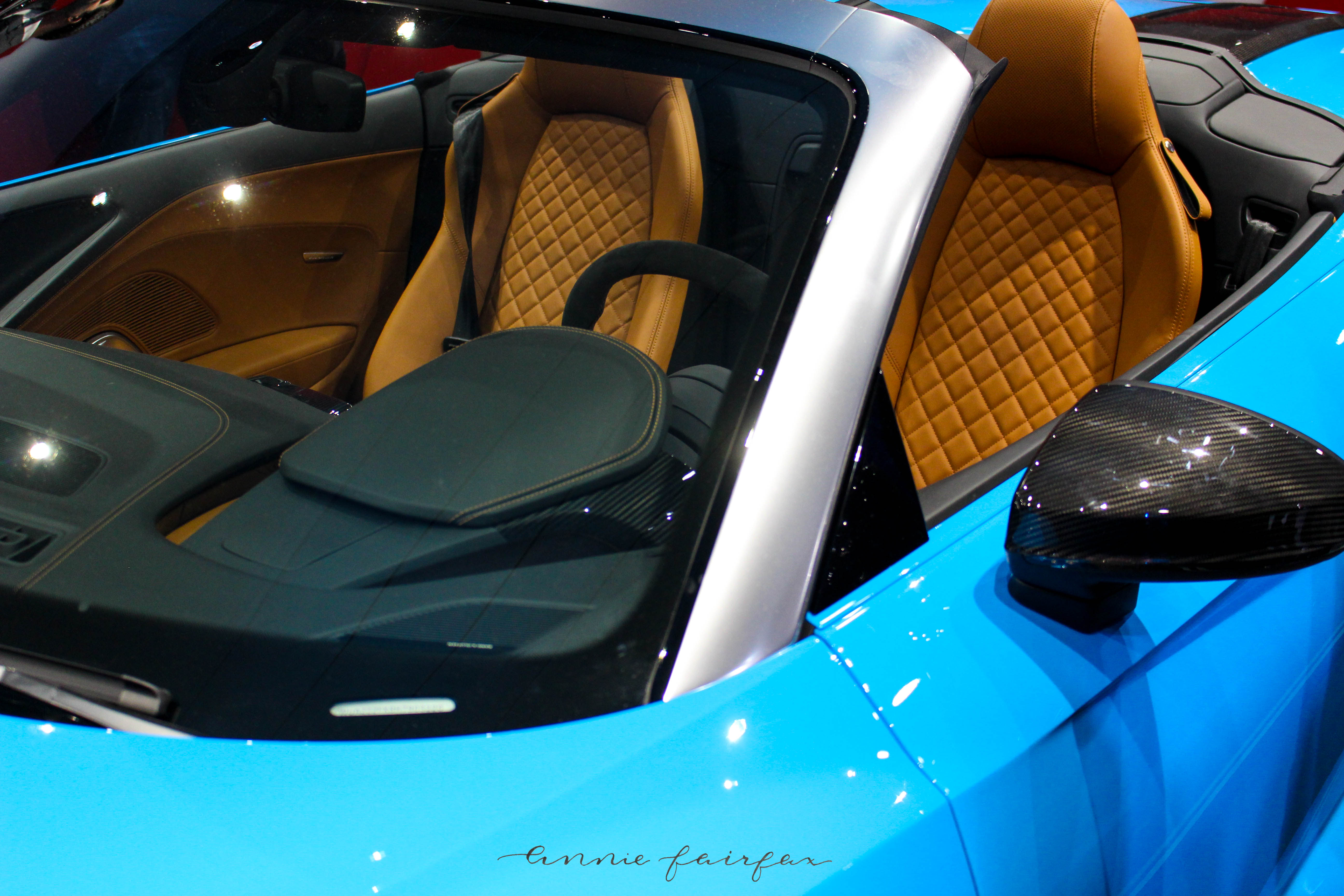 Sky Blue Audi Camel Leather at North American International Auto Show NAIAS on AnnieWearsIt.Com