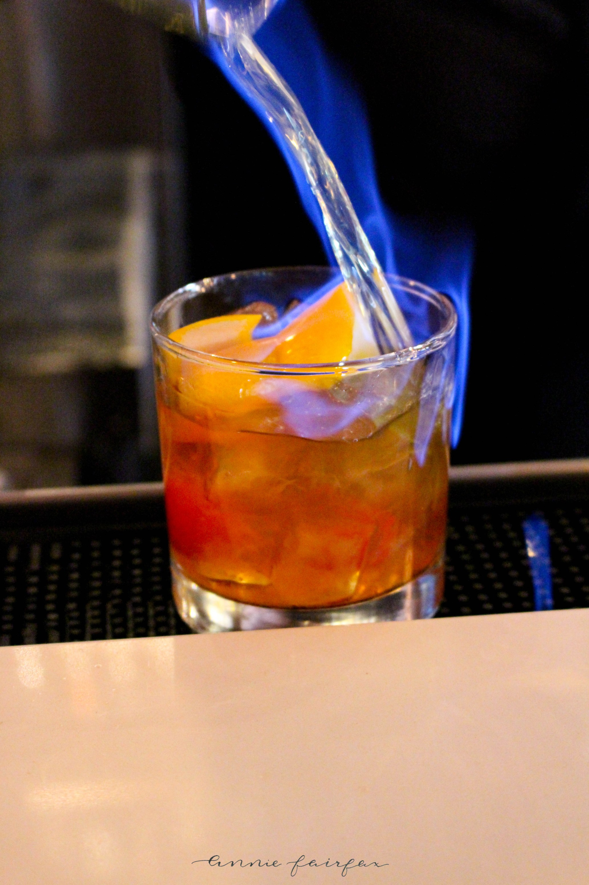 Prost Winebar & Charcuterie Frankenmuth, MI Flaming Drink Drink on Fire Alcohol Drinks