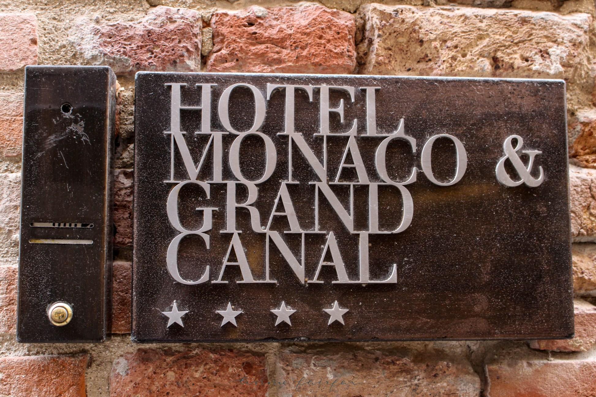 Hotel Monaco Grand Canal Venice Italy