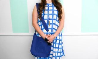 Blue & White Painted Sawyer Swing Dress